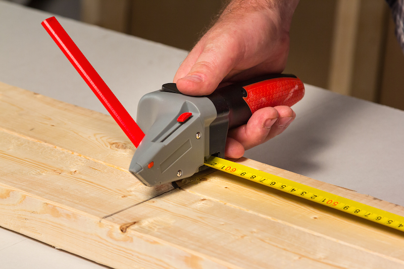 The Drywall Axe is ideal for measuring and marking rip cuts and cross cuts